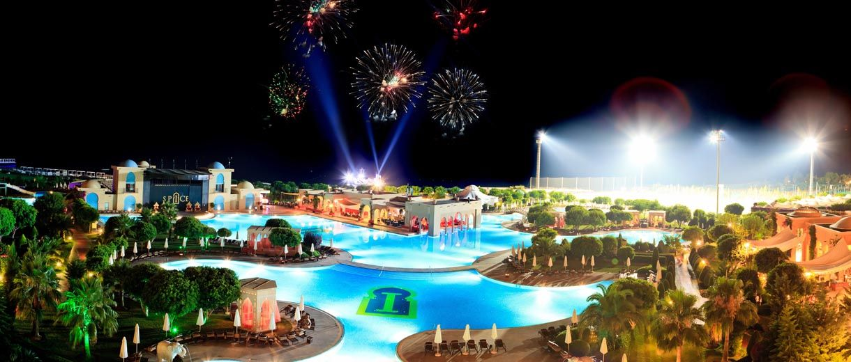 All Inclusive Spice Hotel & Spa-Belek night view