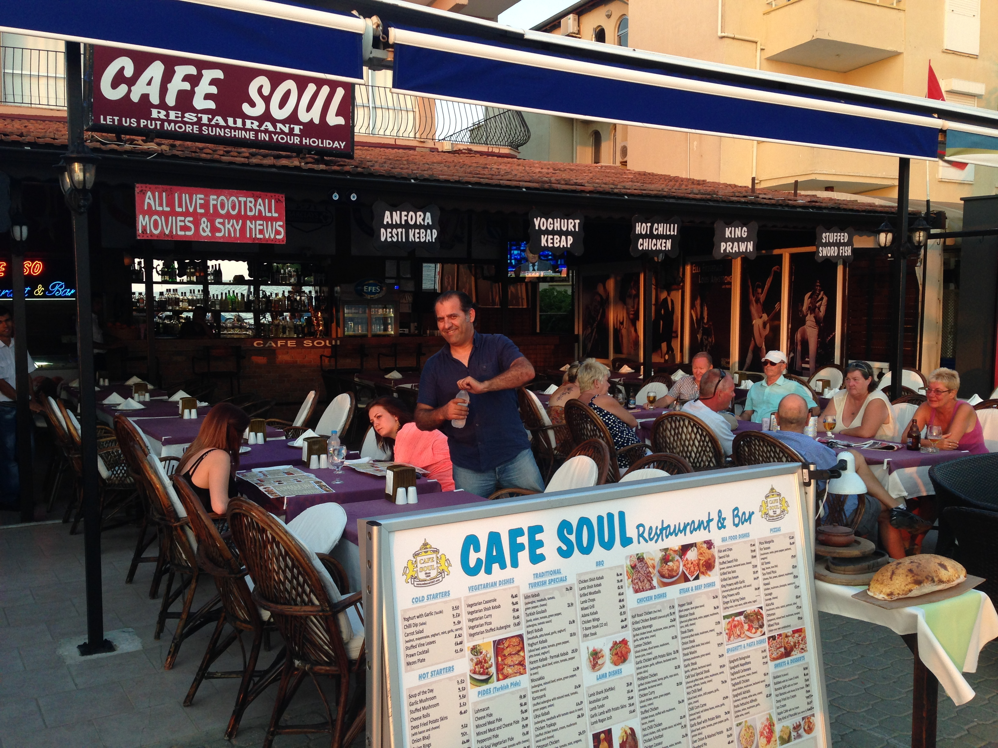 Holiday Guide to Calis Beach- Cafe Soul Restaurant Calis beach